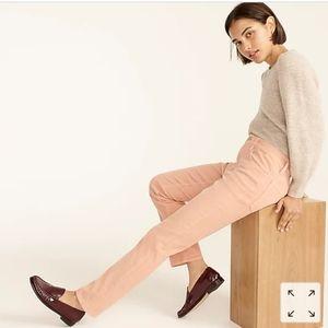 J.Crew Vintage slim-straight pink corduroy pant 6S